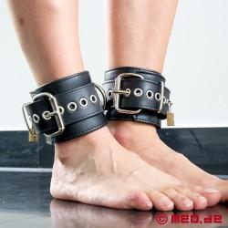 Polsini per caviglie bondage in pelle - New York DeLuxe