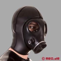 Neopren-Maske mit Gasmaske