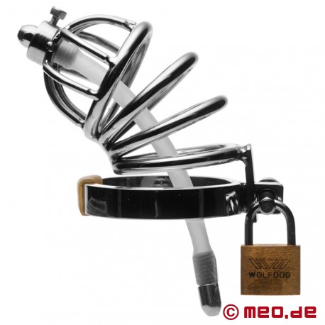 NoPacha PLUS Chastity Cage with Urethral Insert