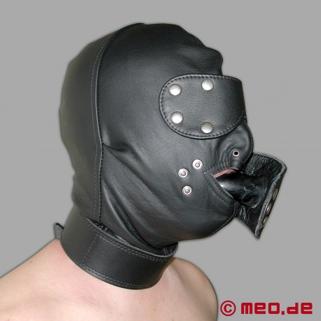 Heavy Duty Bondage Hood with Gag