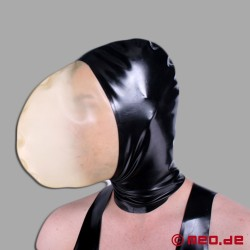 Cagoule en latex - Controle de la respiration