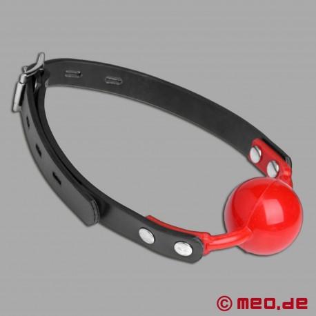 Bavaglio a sfera rosso richiudibile a chiave