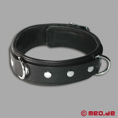 "Leather Collar ""Wolf"""