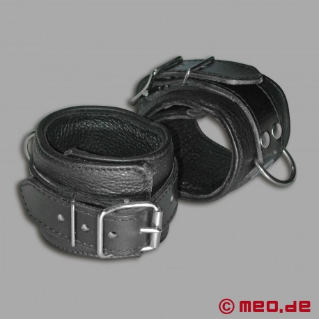 Leather Lined Wrist Restraints - MEO® Vintage Edition