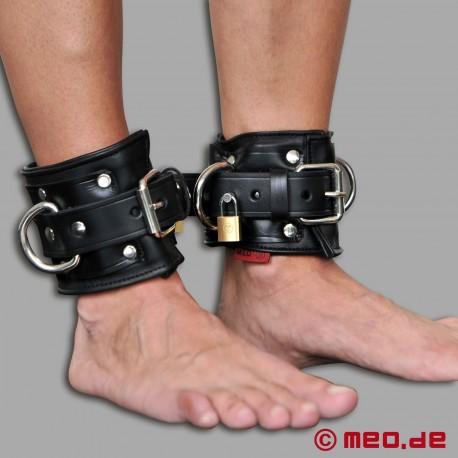 San Francisco Fußfesseln, abschließbar, aus Leder