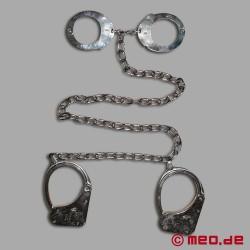 Polizei Handschellen / Fußfesseln: Clejuso Modell 128 M