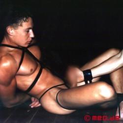 bondage rope anal black