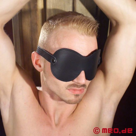 Leather Blindfold Black Dream - MEO® Bondage Edition