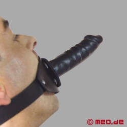 Good Fuck - Bâillon en cuir avec Gode