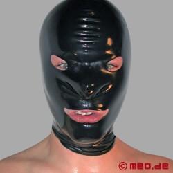 Masque en latex avec ouverture pour les yeux et la bouche