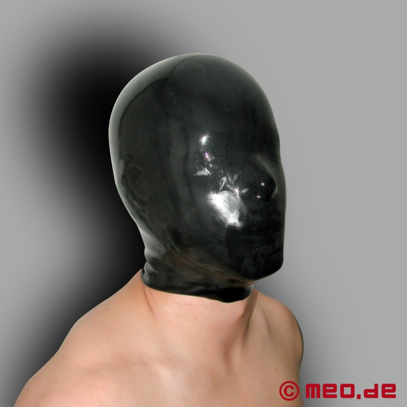 Leather hood facial for my slave 8