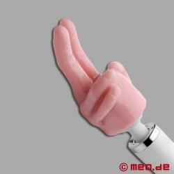 Steck-sie-rein : Finger-Aufsatz für Power Massager