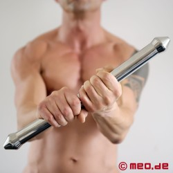 Solid stainless steel FUCK ROD double dildo