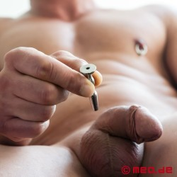 BDSM Penisplug mit Öffnung Double Trouble