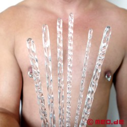 COCK STUFFING: Set of twisted glass sounds