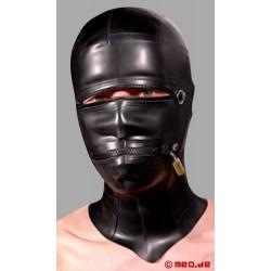 Posture Lock Hood, Masque en latex se fermant à clé