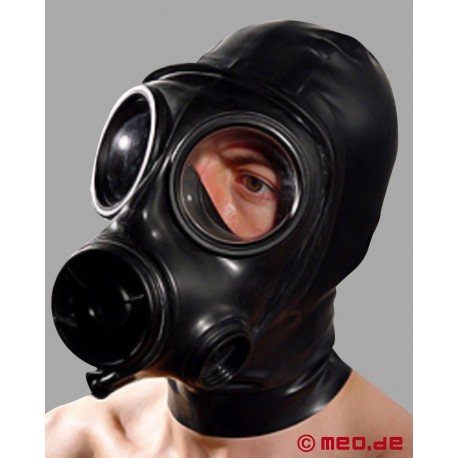 Latex-Bizarro Haube mit Gasmaske