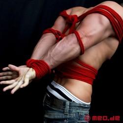Corde de bondage de qualité professionnelle - Corde rouge