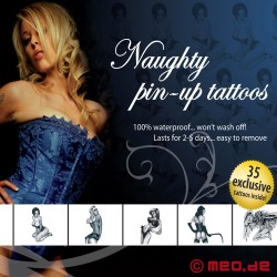 Kit de tatouages – Pour les salopes d'un soir - Naughty Pin-Up