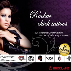 Tattoo Set – For Bad Girls - Rocker Chick