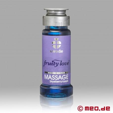 Swede - Fruity Love Massageöl - Blueberry Cassis