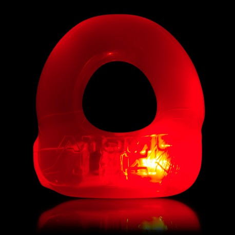 Lumo LED Stretch Cockring - Rouge