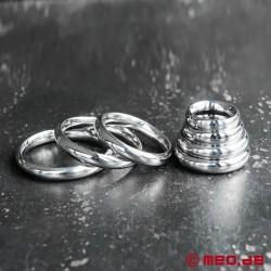 Cockring Donut DUKE, anneau pénien, anneau de gland en acier affiné