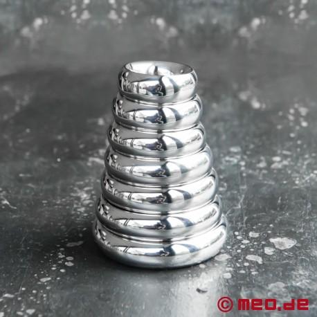 Cockring Donut ROYAL, anneau pénien, anneau de gland en acier affiné