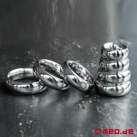 Cockring Donut IMPERIAL, anneau pénien, anneau de gland en acier affiné