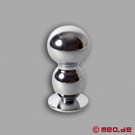 AMOREMEO Buttplug Double Shot in metallo