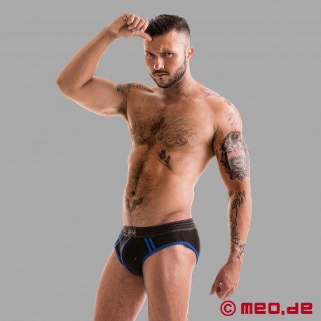 Fetish Gear Core Brief in Black / Royal