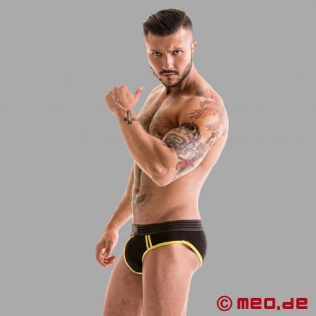 Fetish Gear Core Brief - noir/jaune