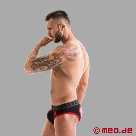 Fetish Gear Core Jock Brief in schwarz / rot