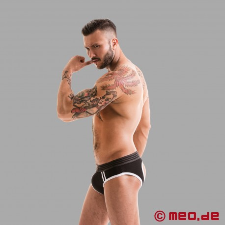 Fetish Gear Core Jock Brief in Black / White