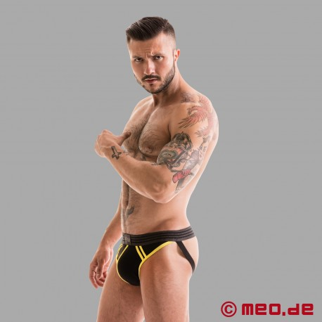 Fetish Gear Core Jockstrap - Black/Yellow