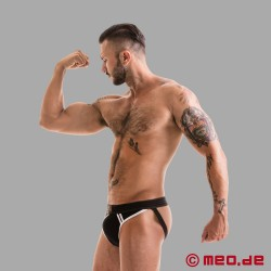 Fetish Gear Core Jockstrap in Black / White