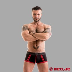 Fetish Gear Core Boxer Brief en noir / rouge