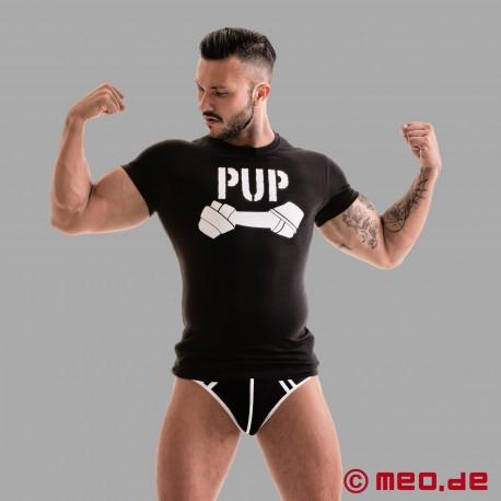 Fetish Gear Pup Tee - schwarz/weiß