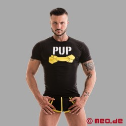 Fetish Gear Pup Tee - schwarz/gelb