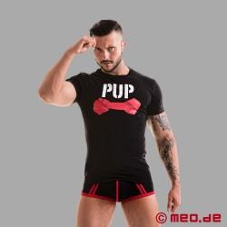 Fetish Gear Pup Tee - schwarz/rot
