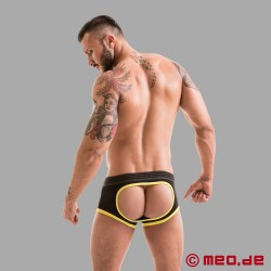 Fetish Gear Core Backless Boxer en noir / jaune