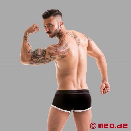 Fetish Gear Core Slip Boxer in Colore Nero / Bianco