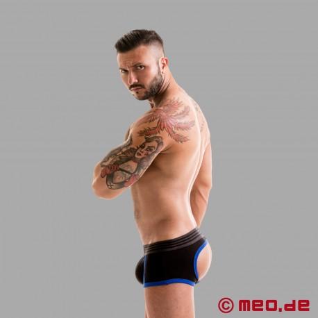 Fetish Gear Core Boxer Culo Nudo in Colore Nero / Blu