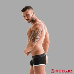 Fetish Gear Core Backless Boxer iin Black / White