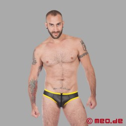 Fetish Neoprene - Neoprene Slip - Black/Yellow
