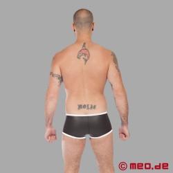 Neoprene Fetish – Boxer aderente in Neoprene in nero/bianco