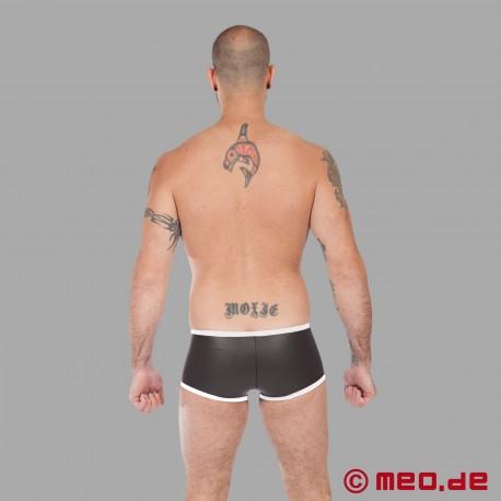 Fetish Neoprene - Neoprene Hipster Boxer - Black/White