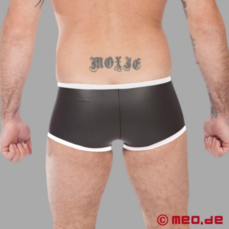 Fetisch Neopren - Enger Boxer aus Neopren in schwarz/weiß