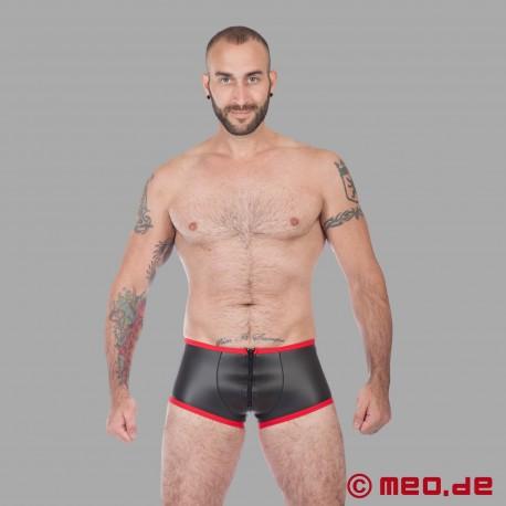 Fetish Neoprene - Neoprene Hipster Boxer - Black/Red