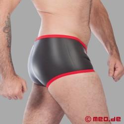 Fetisch Neopren - Enger Boxer aus Neopren in schwarz/rot